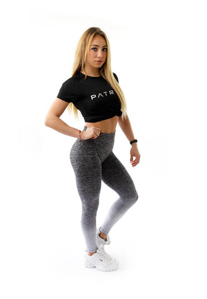 PATRIOT ATHLETICS Frauen Push Up Leggins Fitness Schwarz Grau