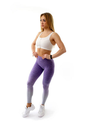 PATRIOT ATHLETICS Frauen Push Up Leggins Fitness Violet Grau