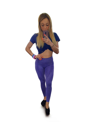 PATRIOT ATHLETICS Frauen Push Up Leggins Fitness Violet