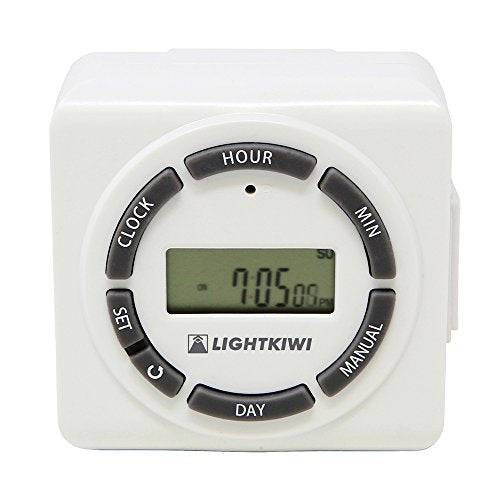 Lightkiwi H5576 Digital Timer for Low Voltage Landscape Lighting Transformer