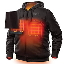 Load image into Gallery viewer, Milwaukee Hoodie M12 12V Lithium-Ion Heated Jacket Front and Back Heat Zones - Battery Not Included - All Sizes and Colors