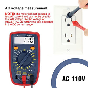 AstroAI Digital Multimeter with Ohm Volt Amp and Diode Voltage Tester Meter
