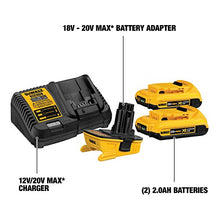 Load image into Gallery viewer, DEWALT DCA2203C 20-Volt MAX Battery Adapter Kit for 18-Volt Tools