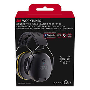 3M WorkTunes Connect Hearing Protector with Bluetooth Technology hat