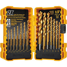 Load image into Gallery viewer, DEWALT DW1361 Titanium Pilot Point Drill Bit Set, 21-Piece