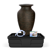 Load image into Gallery viewer, Rippled Urn Landscape Fountain Kit - Medium