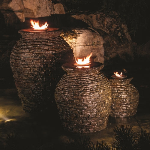 Fire Fountain Add-On Kit for Stacked Slate Urn Fountains