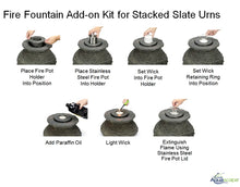 Load image into Gallery viewer, Fire Fountain Add-On Kit for Scalloped Urn Fountains
