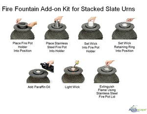 Fire Fountain Add-On Kit for Scalloped Urn Fountains