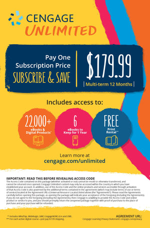 Cengage Unlimited 1 Year Access Code