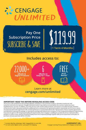 Cengage Unlimited 4 months Access Code