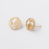 The Gold World Stud Earrings