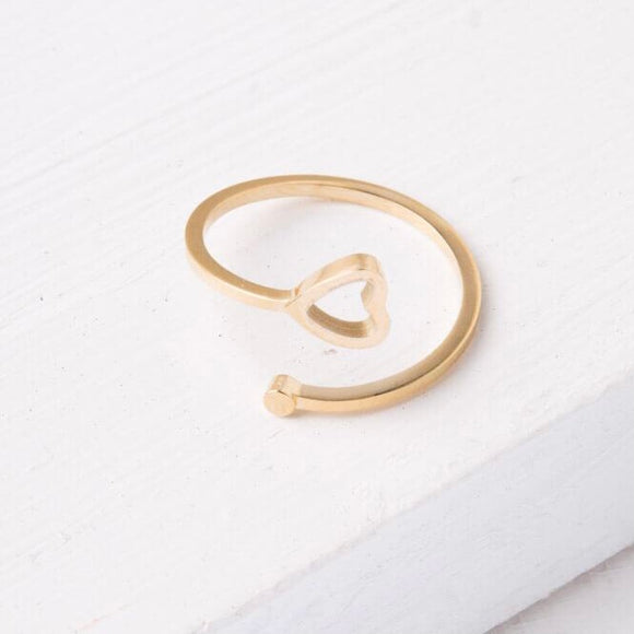 Gold Heart (adjustable)Ring