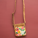 Hipster Cross body Bag - Floral and Blue