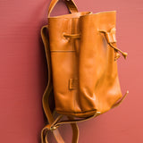 All Leather Mini Backpack