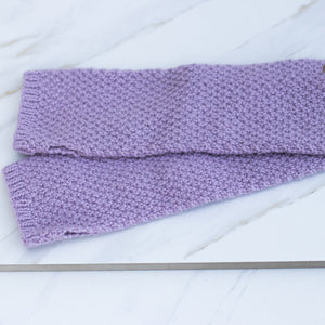 MERINO Half Mitts - Lavender Pink + Charcoal Grey