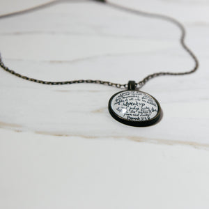 Speak up pendant necklace - Proverbs 31