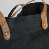 Purnaa Tote Bag - Tan, Teal and Black