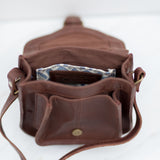 Mini Myra Leather Satchel/ Crossbody (brown)