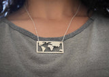 The World Is My Playground Necklace - Gold and Silver