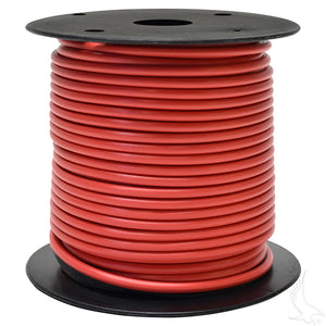 Primary Wire 100ft, Red  14GA