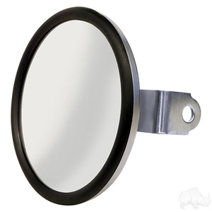 Mirror, Convex Side Mount Rear View, Stainless Steel