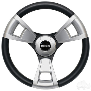 Fontana Steering Wheel, Brushed, Club Car Precedent Hub