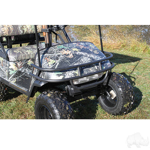 RHOX Brush Guard, Front Black Powder Coat Steel, E-Z-Go TXT 96-13