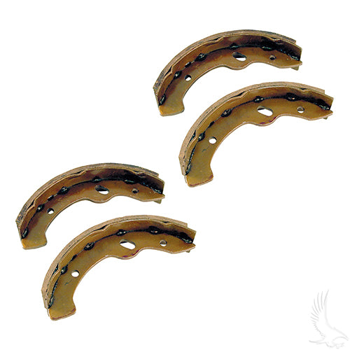 Brake Shoes, SET OF 4, E-Z-Go RXV, Gas 97-09.5/Elec 96-09.5, Workhorse 96+, Yamaha G2-G22 94-06