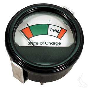 Charge Meter, 36V Round Analog