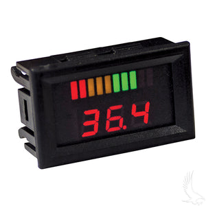 36 Volt Digital Voltage Display Charge Meter, Horizontal