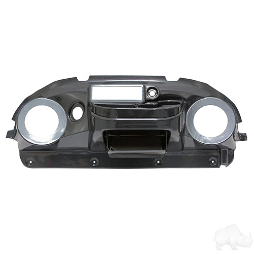 Dash, Deluxe with Radio/Speaker Cutout, Carbon Fiber, Club Car Precedent