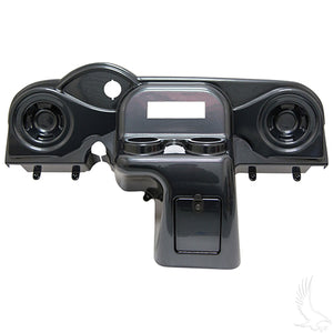 Dash, Deluxe with Radio Cutout and Speaker Indentations, Carbon Fiber, E-Z-Go RXV