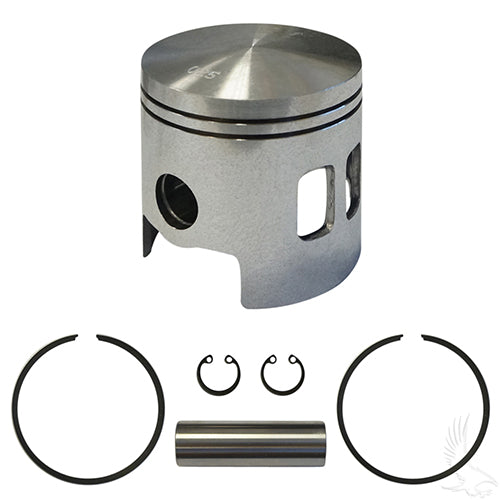 Piston and Ring Assembly, .25mm oversized, E-Z-Go 2-cycle Gas 89-93 2 port oversized pistons