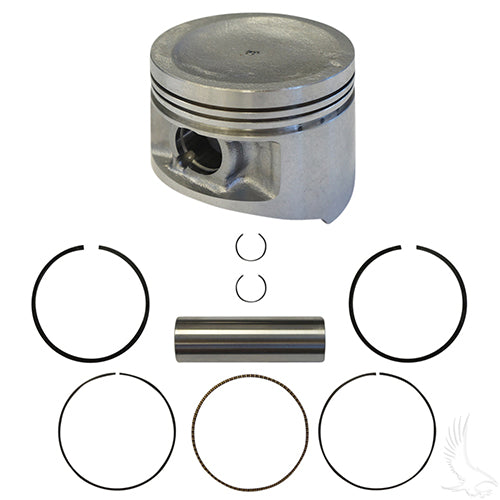 Piston and Ring Assembly, +.25mm, Yamaha G11 97+, G16, G20