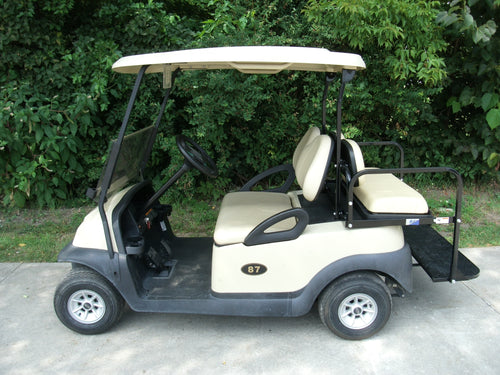 2010 Club Car Precedent Elite 48 Volt Electric in Beige and Rear Seat