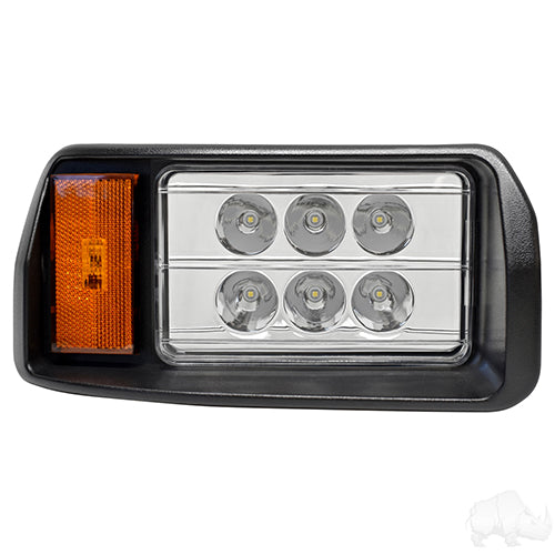 LED Headlight Assembly, Passenger, Club Car DS 93+