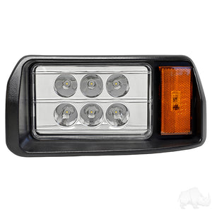 LED Headlight Assembly, Driver, Club Car DS 93+