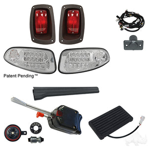 Build Your Own LED Factory Light Kit, E-Z-Go RXV 2016+, Basic, OE Fit Brake Pedal Switch