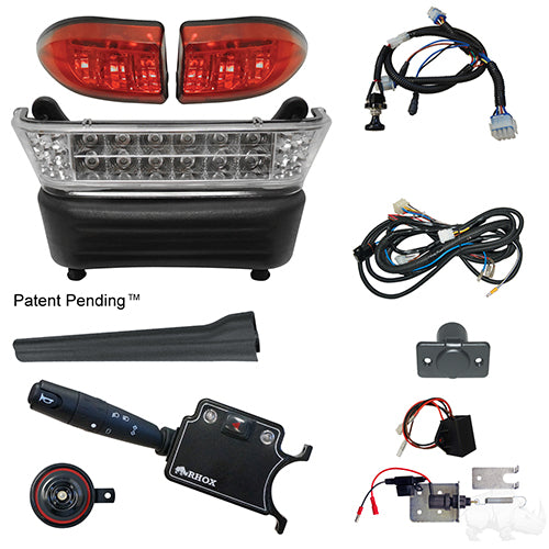 Build Your Own LED Light Bar Kit, Club Car Precedent, Electric 08.5+, 12-48v (Deluxe, Linkage)