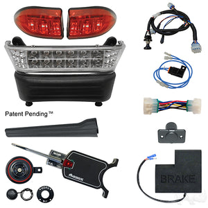 BYO LED Light Bar Kit, Club Car Precedent, Gas & Electric 04-08.5+, 12-48v, (Basic, OE Fit)