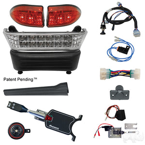 BYO LED Light Bar Kit, Club Car Precedent, Gas & Electric 04-08.5+, 12-48v, (Standard, Linkage)