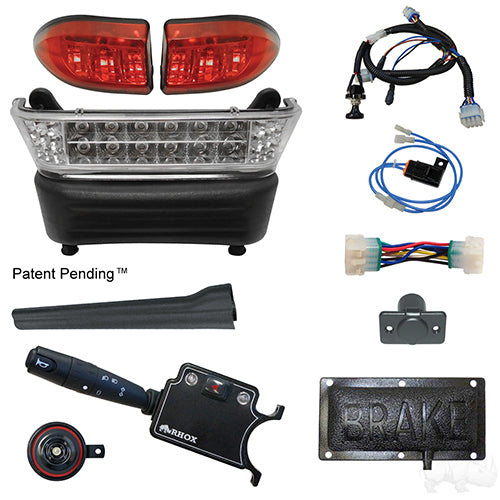 BYO LED Light Bar Kit, Club Car Precedent, Gas & Electric 04-08.5+, 12-48v, (Deluxe, Pedal Mount)