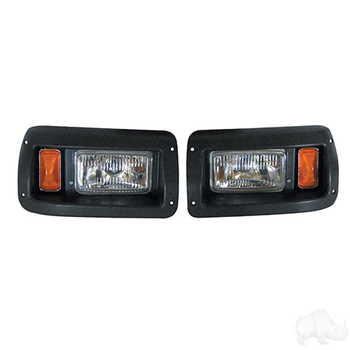 Adjustable Headlights with Bezels, Club Car DS 93+