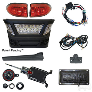 BYO LED Light Bar Kit, Club Car Precedent, Gas & Electric 04-08.5, 12-48v, (Basic, Pedal Mount)