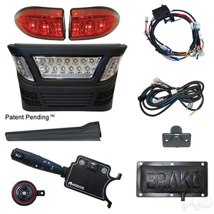 BYO LED Light Bar Kit, Club Car Precedent, Gas & Electric 04-08.5, 12-48v, (Deluxe Pedal Mount)