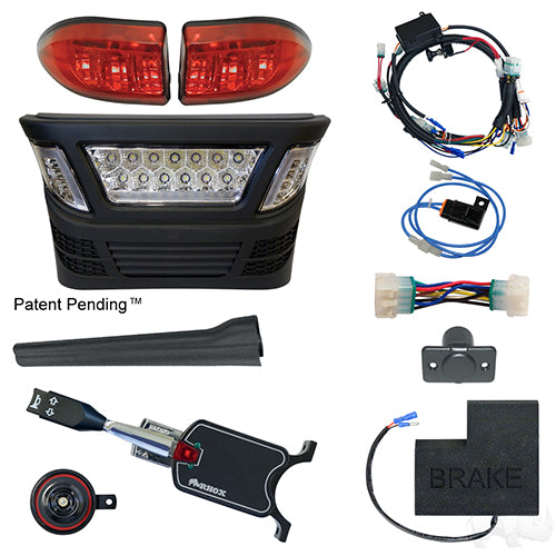 BYO LED Light Bar Kit, Club Car Precedent, Gas & Electric 04-08.5, 12-48v, (Standard, OE Fit)