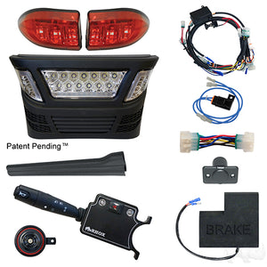 BYO LED Light Bar Kit, Club Car Precedent, Gas & Electric 04-08.5, 12-48v, (Deluxe, OE Fit)