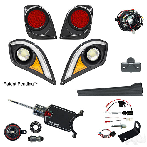BYO LED Light Kit w/ RGBW LED Running Light, Yamaha Drive2 (Basic, Brake Switch Kit)