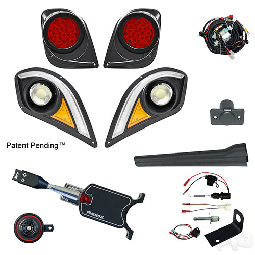 BYO LED Light Kit w/ RGBW LED Running Light, Yamaha Drive2 (Standard, Brake Switch Kit)